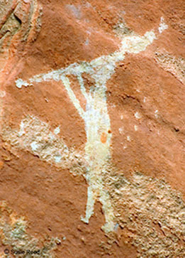 """Play Me A Song"" • Rock Art near Sedona, AZ • Photo by Susie Reed"