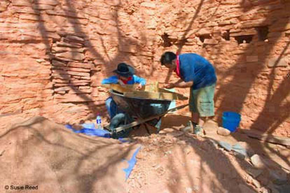 Archaeological dig near Sedona, AZ • Photograph by Susie Reed