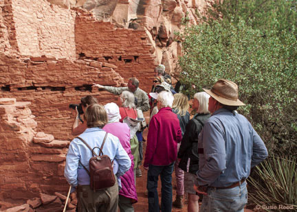 Susie Reed & Pink Jeep Tours Ancient Dwellings & Rock Art Annual Archaeolgy Month Tour
