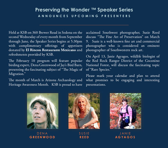 Keep Sedona Beautiful 2016 Speakers including Susie Reed