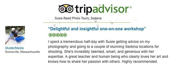 Susie Reed Photos Sedona, AZ 5-Star TripAdvisor Review